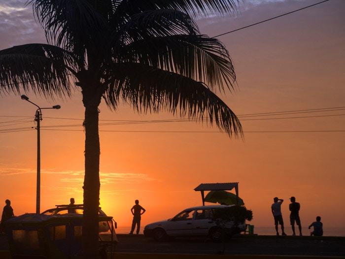 Beach Sunset in Huanchaco, Peru