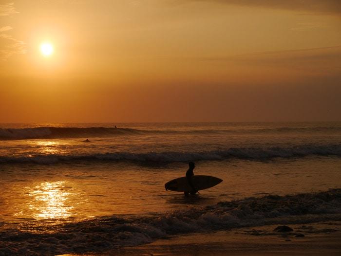 Surfing in Huanchaco, Peru