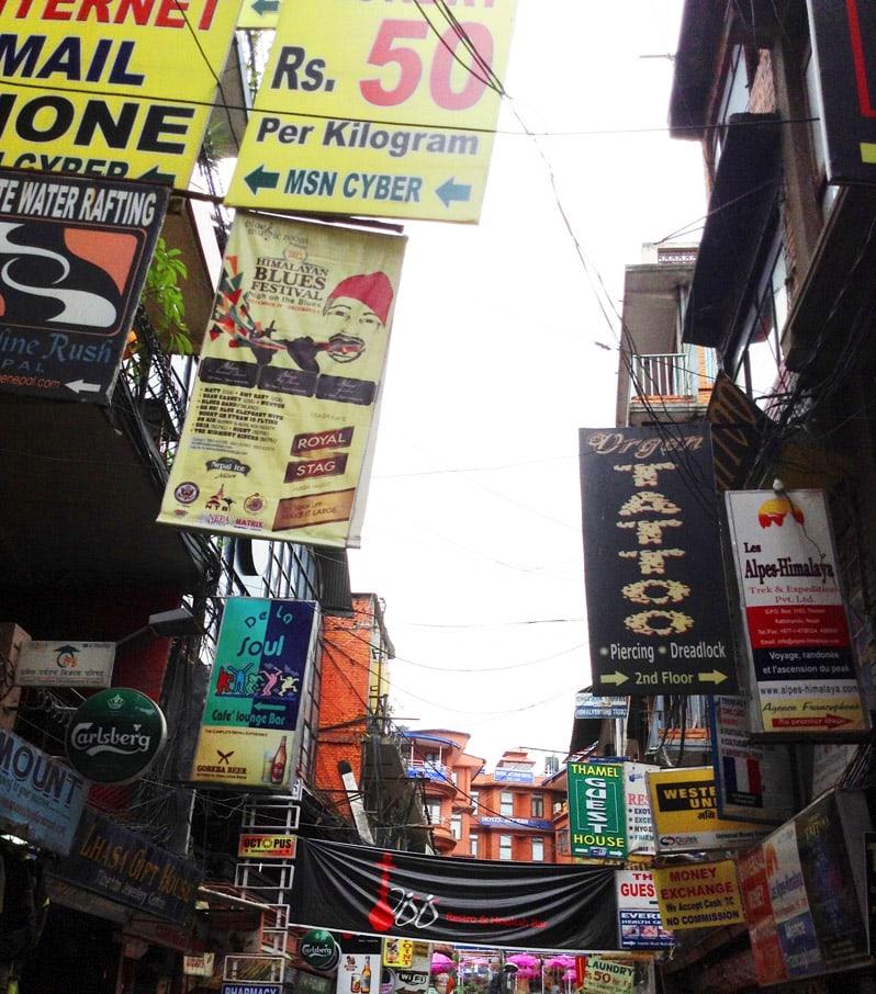 Thamel, Kathmandu in nepal