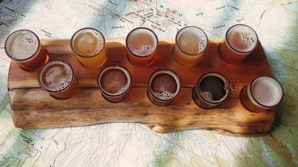 Basecamp beer tasting in Portland, Oregon