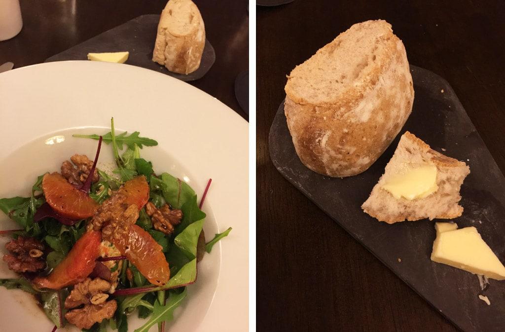 battlesteads hotel restaurant northern england blood orange salad