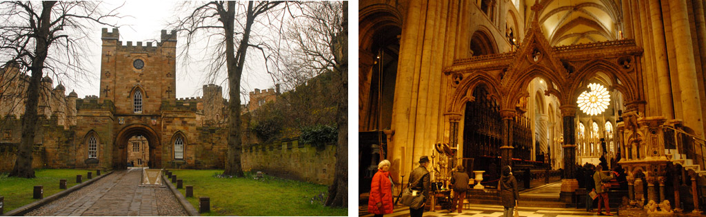 Durham Cathedral and Durham Castle in Northern England