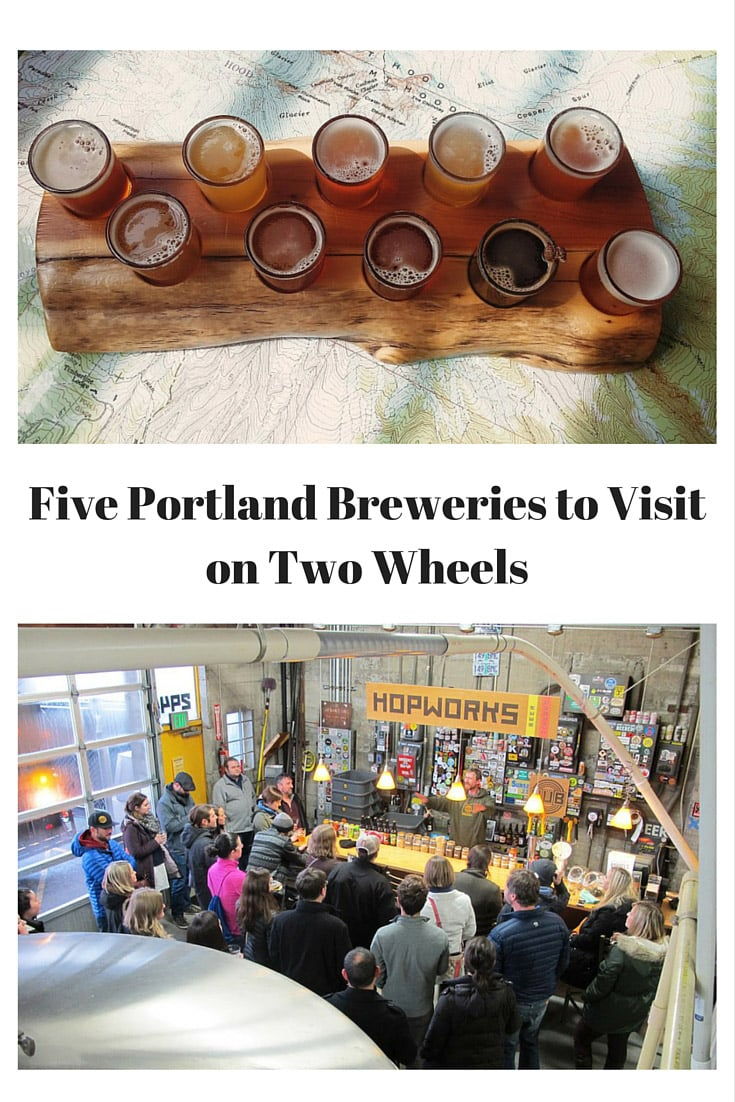 Visit Five Portland, Oregon Breweries on bike