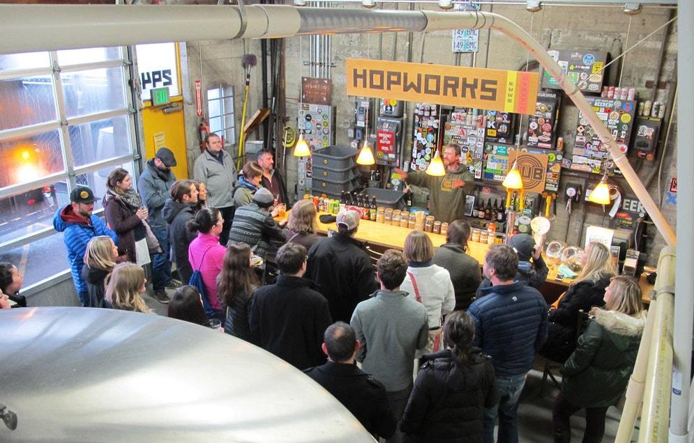 Hopworks brewery in Portland, Oregon