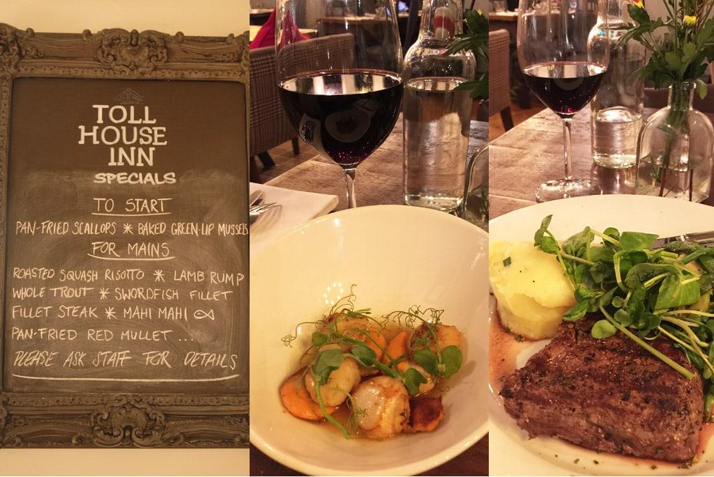 Toll house Inn restaurant menu