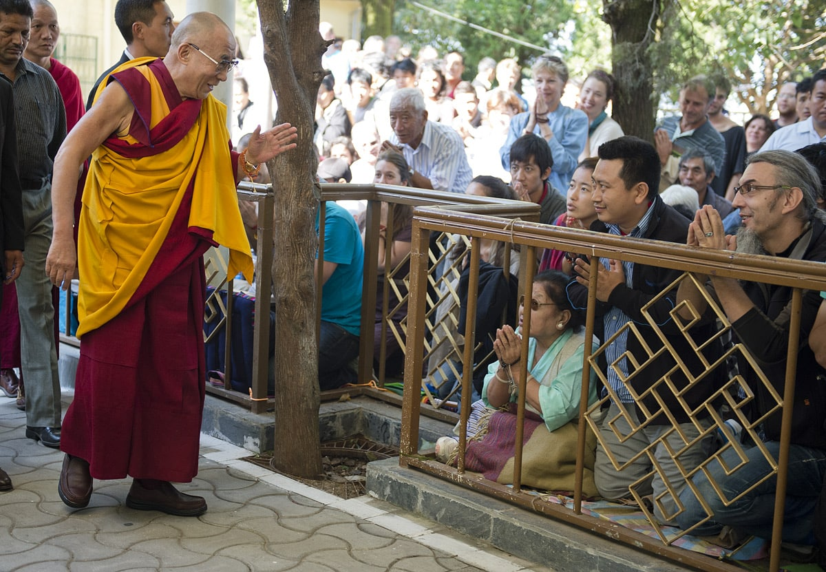 Dalai Llama in Dharamsala, Northern India