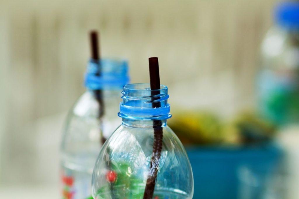 straw in a water bottle