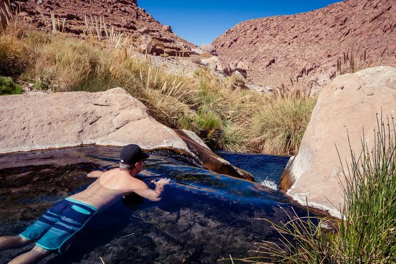 Atacama Puritama Hot Springs in chile