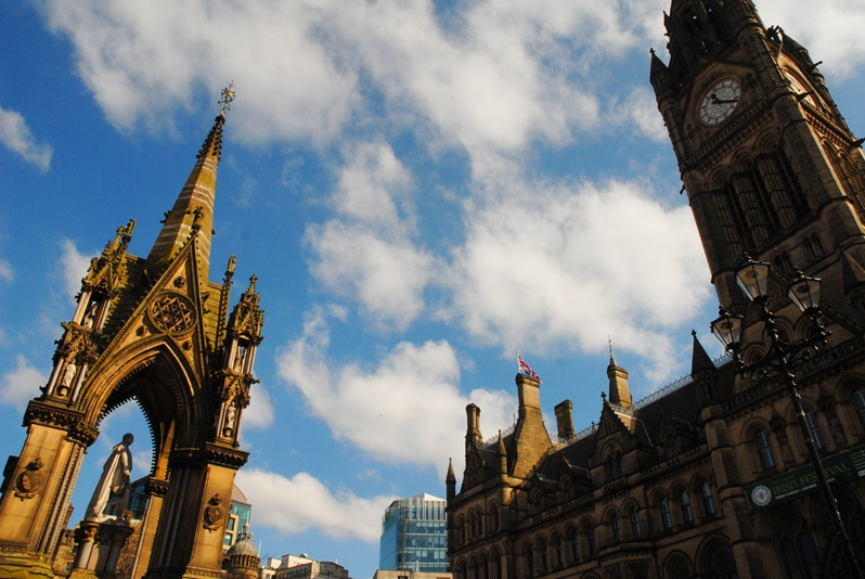 albert square in Manchester, England