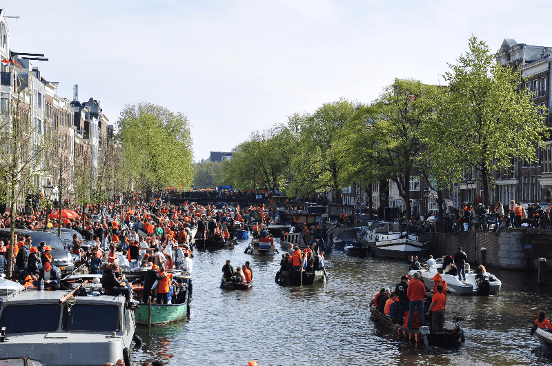 amsterdam, netherlands boat canal party