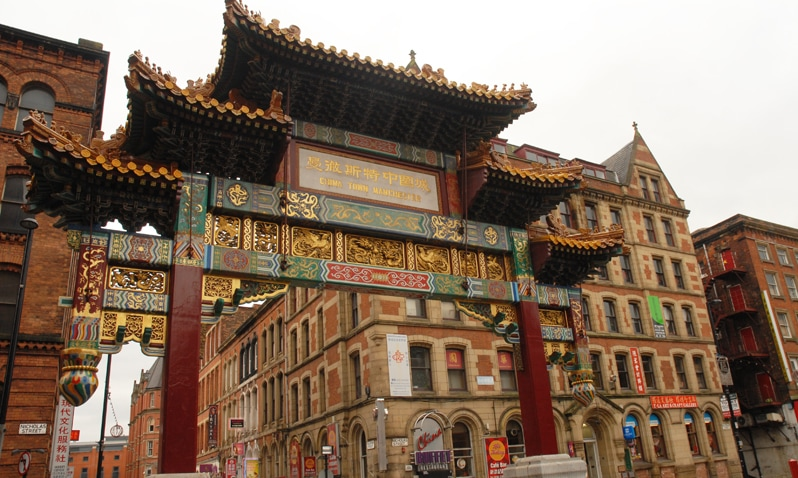 Chinatown in Manchester, England