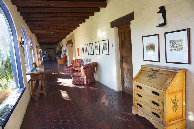 Corridor at Hacienda del Sol Resort in Tucson, Arizona