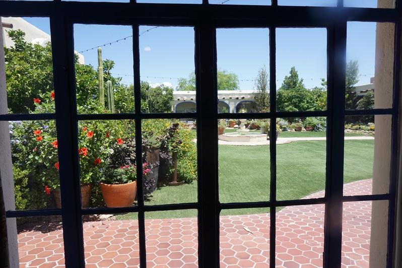 Hacienda del Sol Resort in Tucson, Arizona courtyard garden