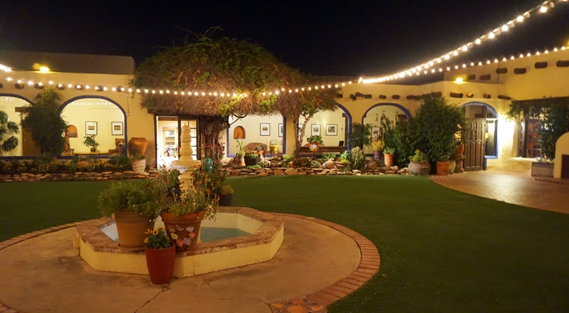 Courtyard at Hacienda del Sol Resort in Tucson, Arizona
