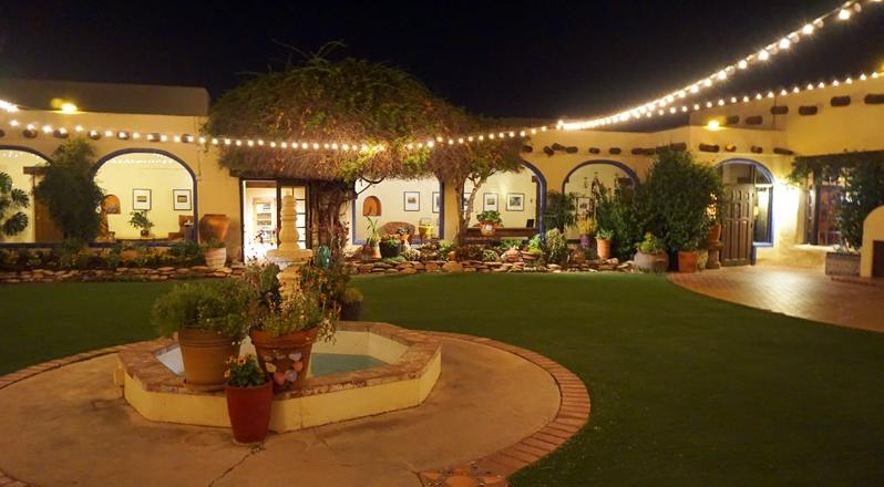 Courtyard at Hacienda del Sol Resort in Tucson, Arizona
