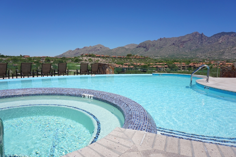 pool at Hacienda del Sol Resort in Tucson, Arizona