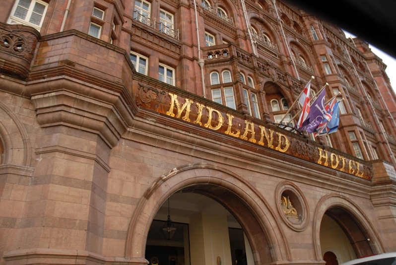 Midland Hotel in Manchester, Northern England