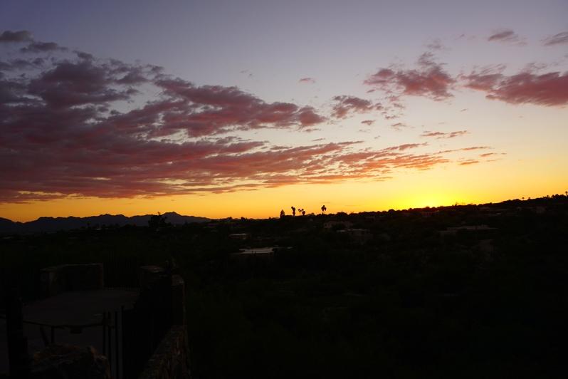 sunset at Hacienda del Sol Resort in Tucson, Arizona