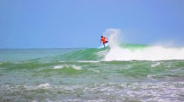 Surfing Puerto Viejo de Talamanca in Costa Rica