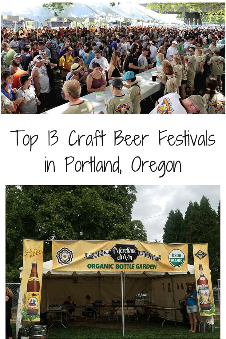 Top 13 Craft Beer Festivals in Portland, Oregon. Updated with 2018 festival dates. PDX beer at it's best! #beerfestivals #portland #oregon #craftbeer #oregonwine