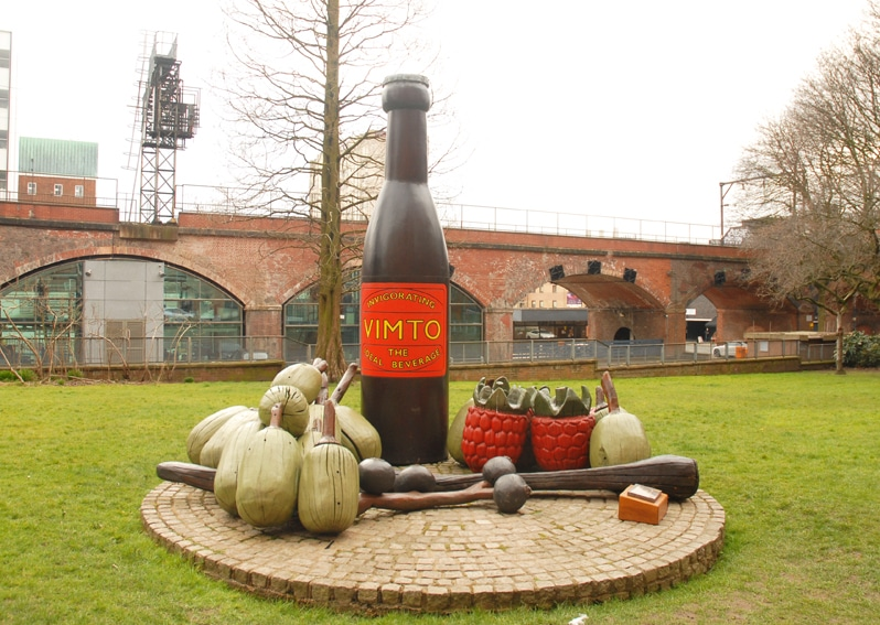 Vimto Statue on Granby Row at The University of Manchester