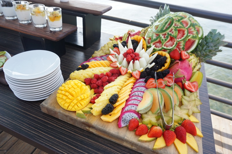Coronado Island Marriott Resort fresh fruit