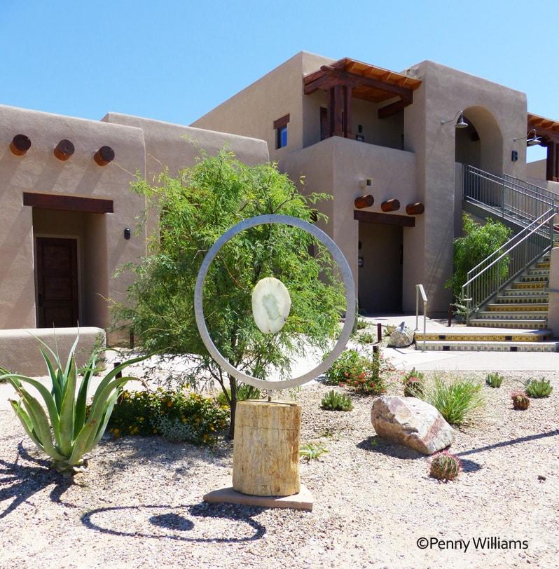 Hacienda Del Sol Guest Ranch Resort, tucson, arizona garden art