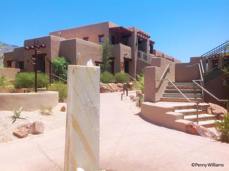 Hacienda Del Sol Guest Ranch Resort, tucson, arizona garden fountain