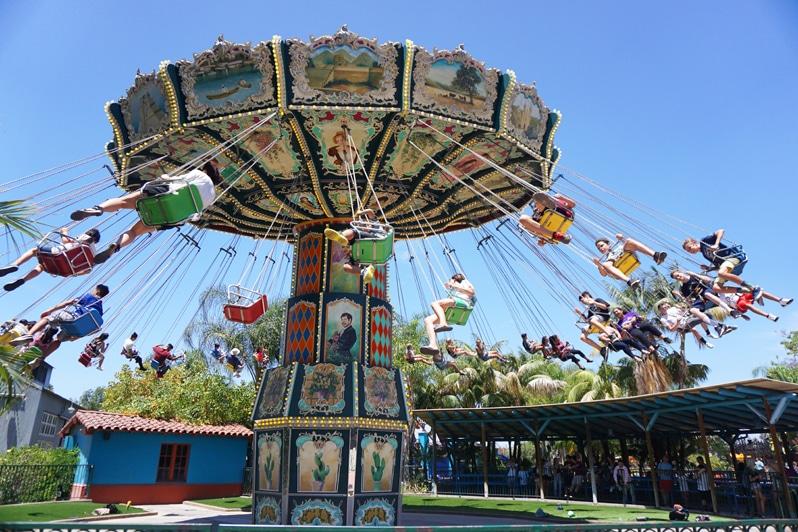 Swings at Knott's Berry Farm Amusement Park in Buena Park, California