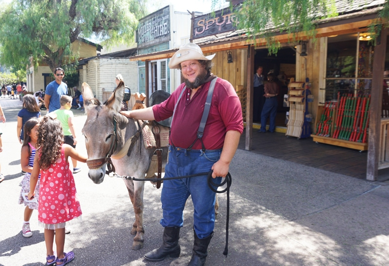 Knott's Berry Farm Ghost Town Alive prospector with burro