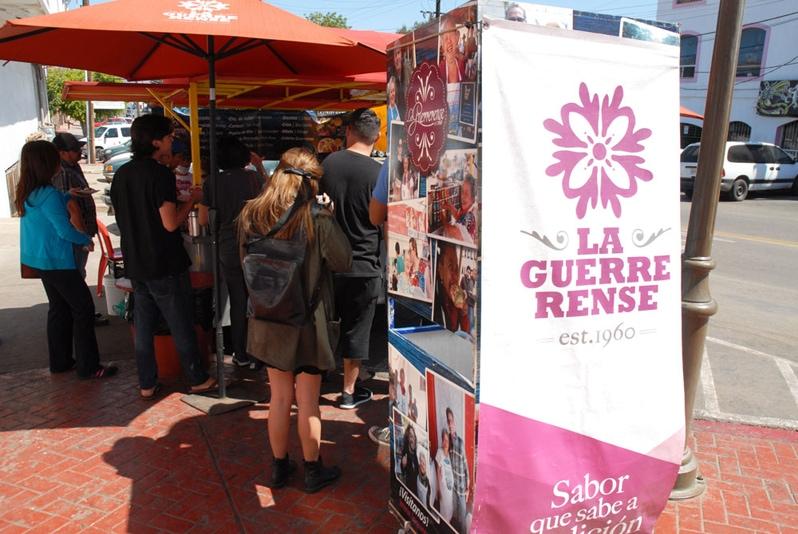 Sabina Bandera of La Guerrerense in Ensenada tostada