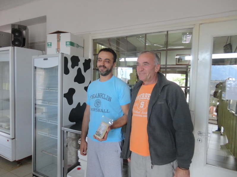 Christos family produces the mild Formaella cheese in Arachova, Greece