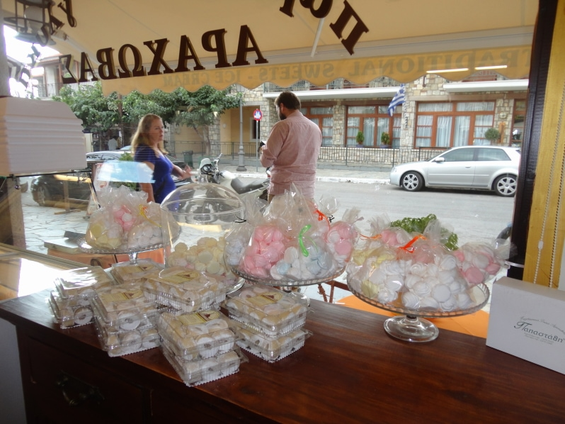 Thomas and Effie Papasthathis Greek Candy Store in Arachova, Greece