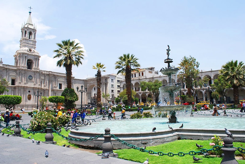 white city Arequipa in Peru