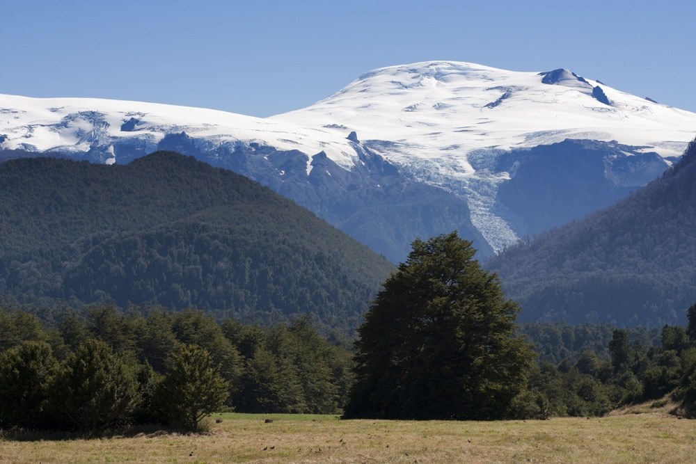 Volcano Conguillio NP in chile