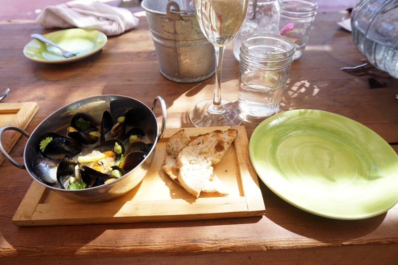 Conchas de Piedra fresh mussels in Valle de Guadalupe Food and Wine