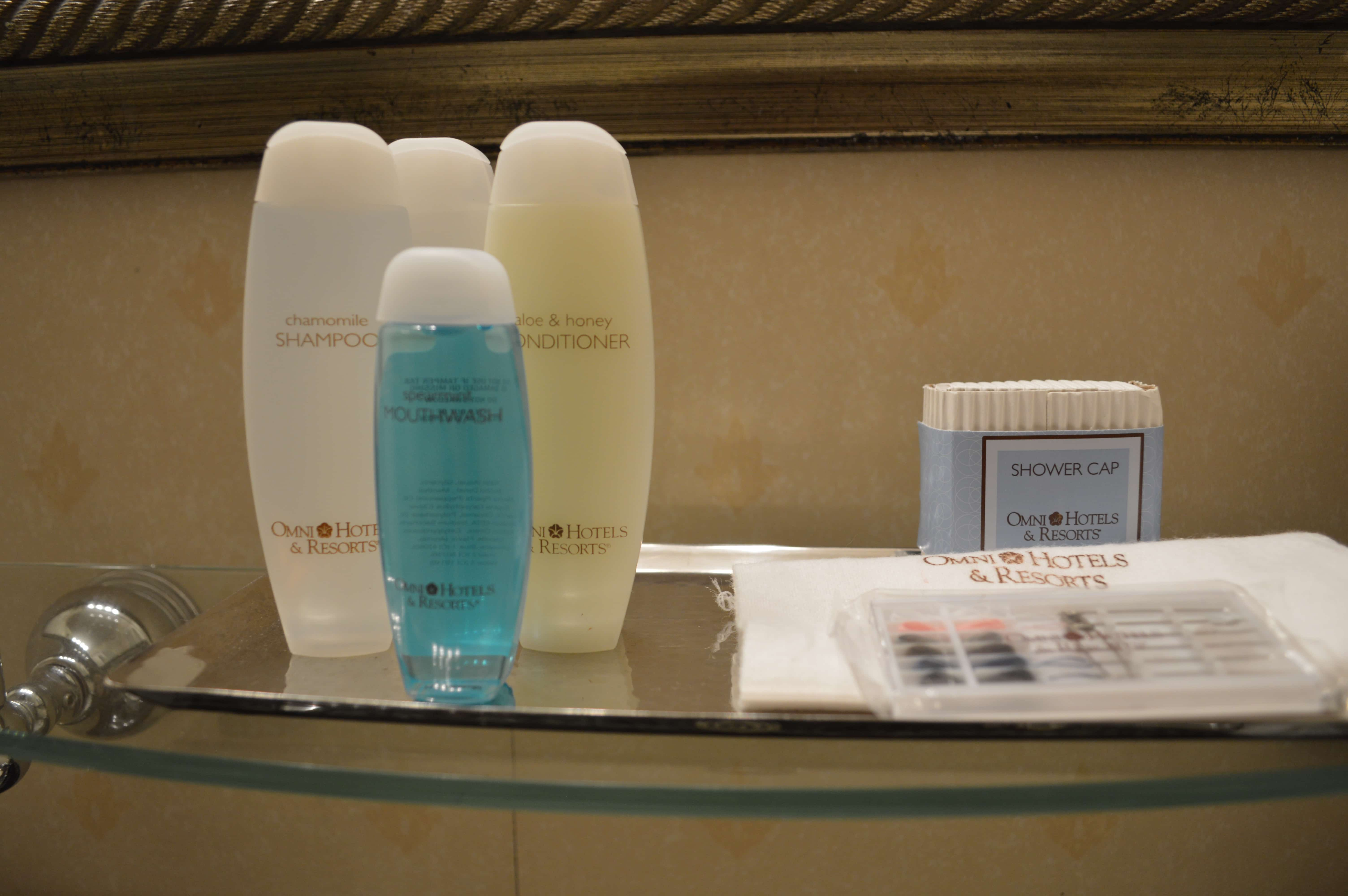 Toiletries at Omni Severin