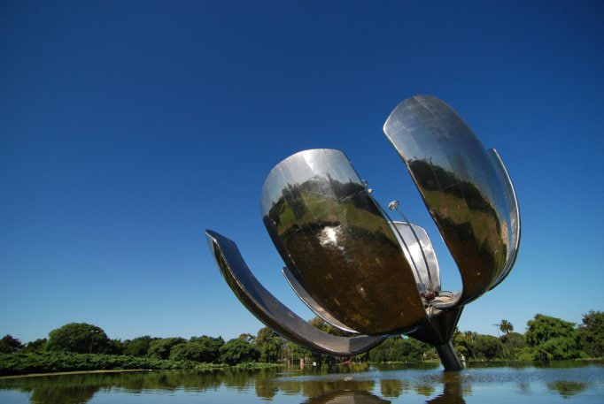 Floralis Genérica in the Flower Park in Buenos Aires