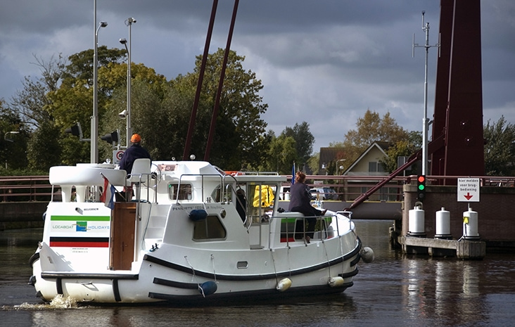 Holland Cruise boat in canal