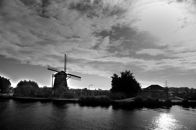 Holland windmills during Holland Cruise of canals