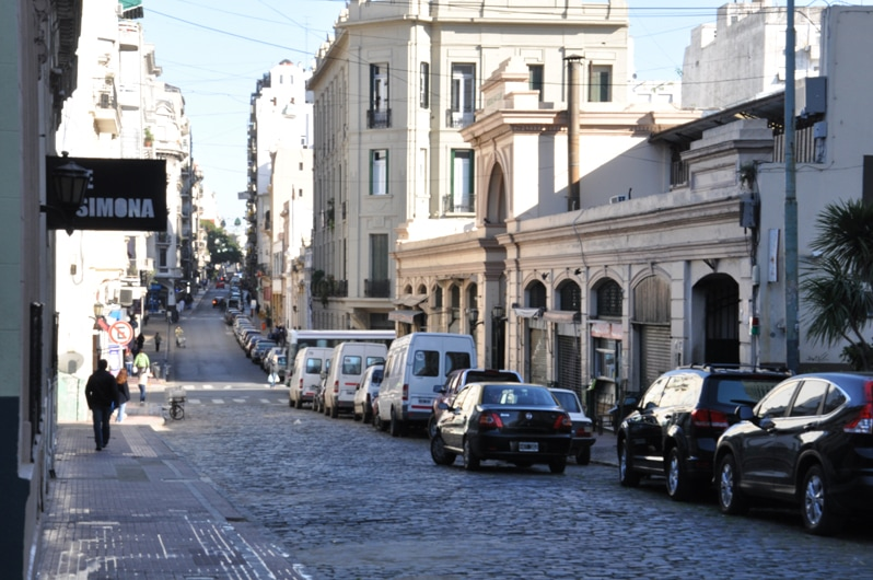 San Telmo district in Buenos Aires, Argentina