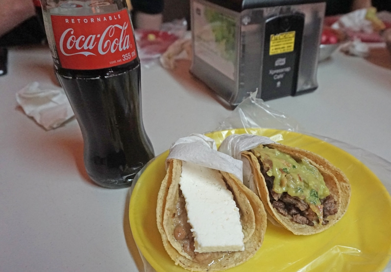 Tacos at Los Amigos in Tecate, Mexico
