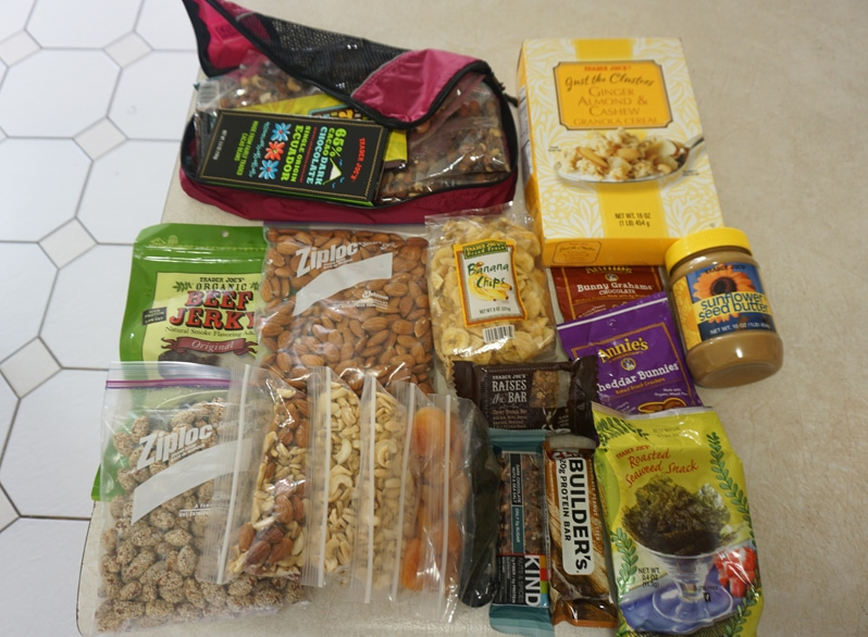 pack food for travel