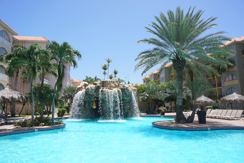 Tropicana Aruba Resort Pool with Waterfall