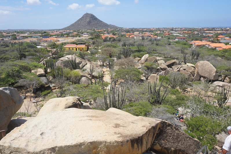 Casibari Rock Formation view in Aruba