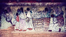 Ted DeGrazia Art Mural at Degrazia Gallery in the Sun in Tucson, Arizona