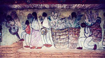 Ted DeGrazia Art Mural at Degrazia Gallery in the Sun in Tucson, Arizona