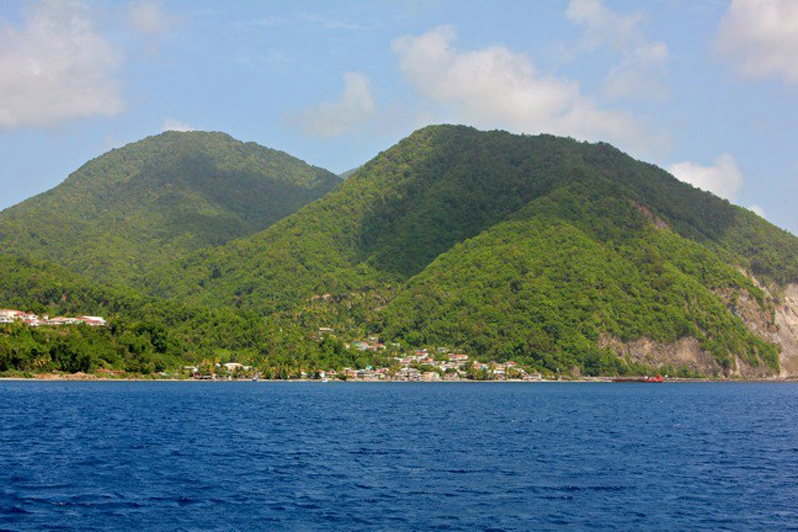 Dominica island in the caribbean