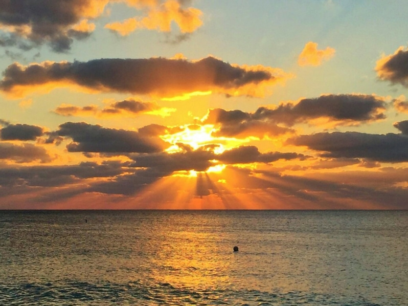 Sunset in Grand Cayman island