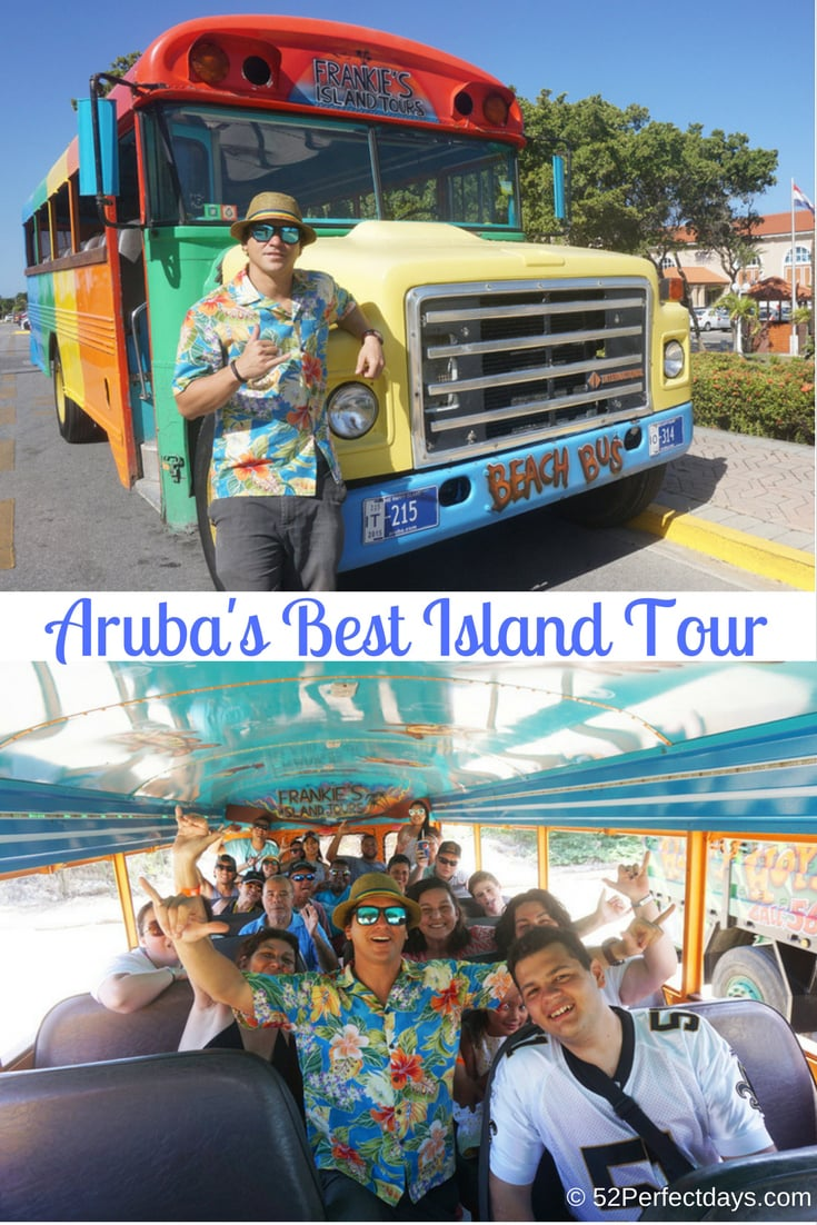 There are many ways to explore Aruba, but if this is your first time, I suggest a guided tour. It's a great way to explore all that Aruba has to offer. Frankie offers the best Aruba Island Tours. Double thumbs up. #islandtour #aruba #caribbean #travel